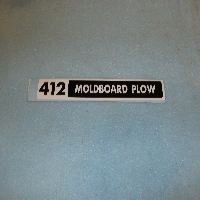 412 Moldboard Plow Decal