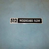 512 Moldboard Plow Decal
