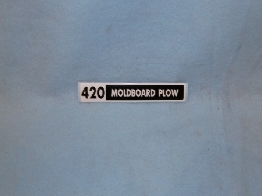 420 Moldboard Plow Decal