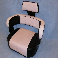 3 Piece Assy,  Org Blk White Pleated