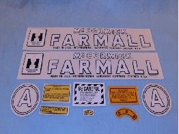 Decals Farmall McCormick A 1945-1948