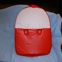 Red/White 19 Inch Pan Seat Cushion