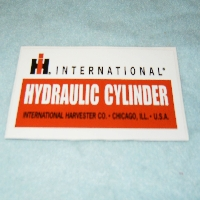 Hydraulic Cylinder Decal Fits: Plows Ect.