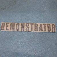 Demomstrator Decal Fits: All 1970 Demonstrators