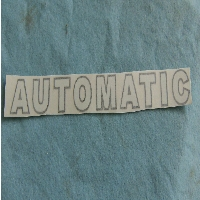 Plow Decal: AUTOMATIC
