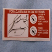 Adjustable Plow Bottoms Decal