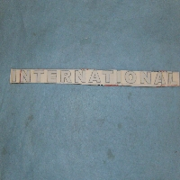 International Decal 26 1/4 Long X 1 1/2 Tall