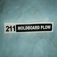 211 Moldboard Plow Decal