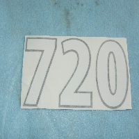 720 Plow Decal