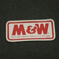M&W Decal NOS Part # 3472